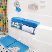 Bath Kneeler with Elbow Rest Pad Set with Bath-tub Spout Cover, Hoohome Baby Bath Set,X-Long, Thick, Knee Cushioned Bathtub Support, Non-Slip Bottom, 4 Caddy Pockets Support