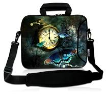 RICHEN 9.7 10 10.1 10.2 inches Messenger Bag Carring Case Sleeve with Handle Accessory Pocket Fits 7 to 10-Inch Laptops/Notebook/ebooks/Kids Tablet/Pad (7-10.2 inch, Clock & Butterfly)