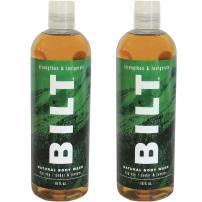 "BILT Natural Body Wash for Men 16 oz, Big Sky""Strengthen & Invigorate"" - Cedar & Juniper (2 pack)"