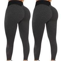 Famous TIK Tok Leggings Women Textured Anti Cellulite Ruched Butt Lift Yoga Pant