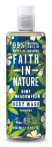 Faith In Nature Hemp and Meadowfoam Body Wash 400ml | Vegan | No Cruelty | 99% Natural Fragrance | No From SLS or Parabens