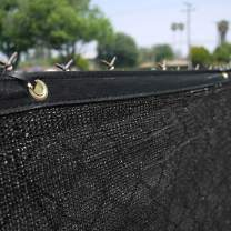 Clevr 6' x 50' Wind Privacy Screen Fence, Commercial Grade Fabric Mesh with Durable Grommets, Black (Set of 2-100' Long) | 3 Year Limited Warranty 140GSM