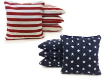 Tailgating Pros Johnson Enterprises Handmade Stars and Stripes 8 Regulation Cornhole Bags