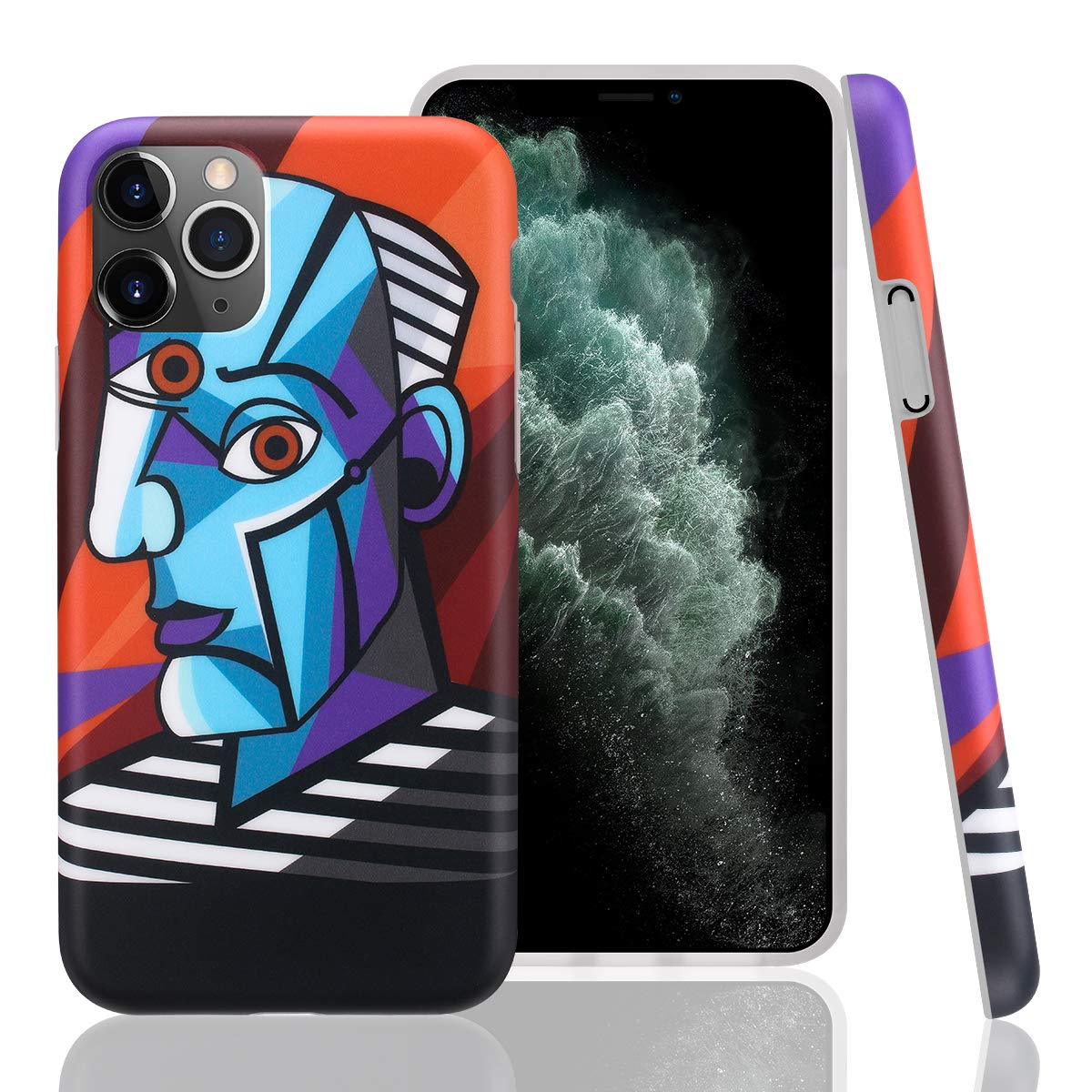 GOLINK Case for iPhone 11 Pro,Art Series Slim-Fit Ultra-Thin Anti-Scratch Shock Proof Dust Proof Anti-Finger Print TPU Gel Case for iPhone XI Pro 5.8 inch(2019 Release)-Cubist Face Portrait Painting