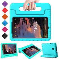 BMOUO Kids Case for Alcatel Joy Tab 8 2019/T-Mobile 3T 8 Tablet 2018/A30 Tablet 8 2017, Lightweight Kid-Proof Handle Stand Case for Alcatel Joy Tab 2019/Alcatel 3T 8 2018 / A30 8 inch 2017 - Turquoise