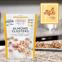 Creative Snacks Naturally Delicious Almond Clusters with Cashews, Pumpkin and Sunflower Seeds, 3 Pack, 4 Ounce Resealable Bags
