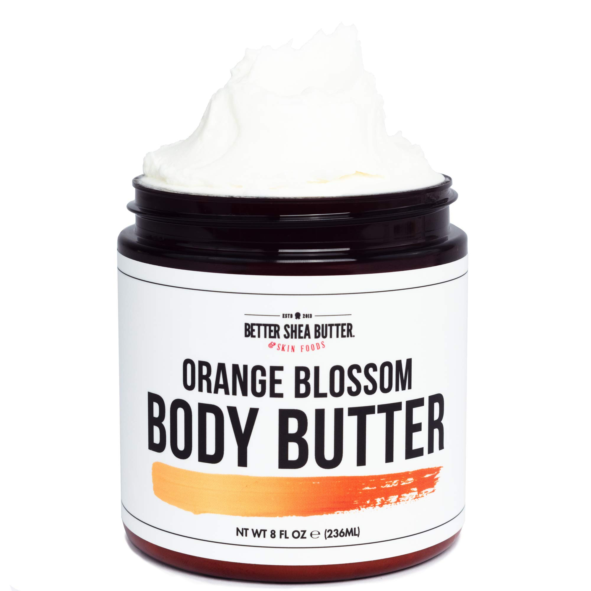 Orange Blossom Body Butter for Dry Skin - Hydrating Cream with Organic Aloe Vera, Shea Butter, and Scented with a Blend of Citrus Essential Oils - 8 oz