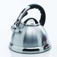 Creative Home Camille 3.0 Qt Stainless Steel Whistling Tea Kettle