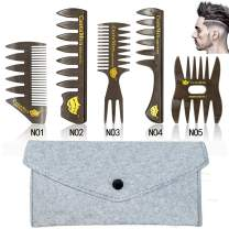 5 PCS Hair Comb Styling Set Barber Hairstylist Accessories,Professional Shaping & Wet Pick Barber Brush Tools, Anti-Static Hair Brush for Men Boys