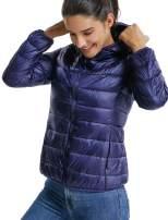 Women's Hooded Short Down Jacket Winter Windproof Coat Parkas Packable Light Weight Outwear