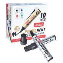 XSG Jumbo Extra Wide chisel point Permanent Marker, Black, 10 Pack (X-6018),10mm wide tip,Perfect for making signs for any occasion