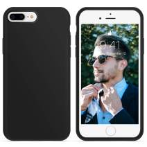 OTOFLY iPhone 8 Plus Case,iPhone 7 Plus Case,[Silky and Soft Touch Series] Premium Soft Silicone Rubber Full-Body Protective Bumper Case Compatible with iPhone 7/8 Plus (Black)