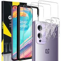 TQLGY 3 Pack Screen Protector Compatible for OnePlus 9 + 3 Pack Camera Lens Protector, Tempered Glass [Anti-Scratch] [Easy Installation] [Case Friendly] [Bubble Free] [9H Hardness] - HD