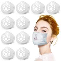 Luxtude Mask Inserts, 3D Silicone Mask Bracket Inner Support Frame Mask Spacer Accessories, Large Silicone Breathe Cup Inserts Mask Cage Lipstick Protector Face Guards for Women Men Adults (10 PACK)