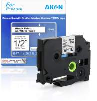 """AKEN Compatible Label Tape Replacement for Brother TZe-231, TZ-231 Laminated P-Touch Label Maker Tape, Work for PT D210 H110 D600 1230PC 1280, 0.47"""" x 26.2'(12mm x 8m), Black on White, 1-Pack"""