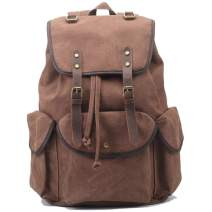 OCCIENTEC Vintage Canvas Casual Backpack College Daypack Laptop Backpack Outdoor Travel Hiking bags for Men and Women