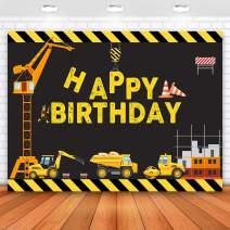 Allenjoy 5x3ft Construction Birthday Party Backdrop Excavator Children Construction Backdrop for Birthday Party Backdrop Construction Birthday Decoration