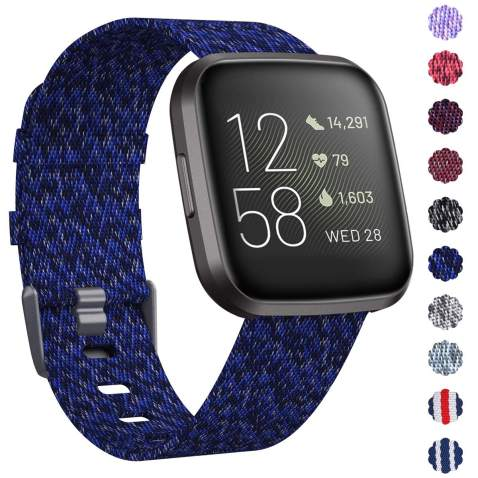 MEFEO Compatible with Fitbit Versa Bands Slim Soft Silicone Sport Band Thin Narrow Wristband Replacement Strap for Fitbit Versa//Versa 2//Versa Lite Edition Women Men