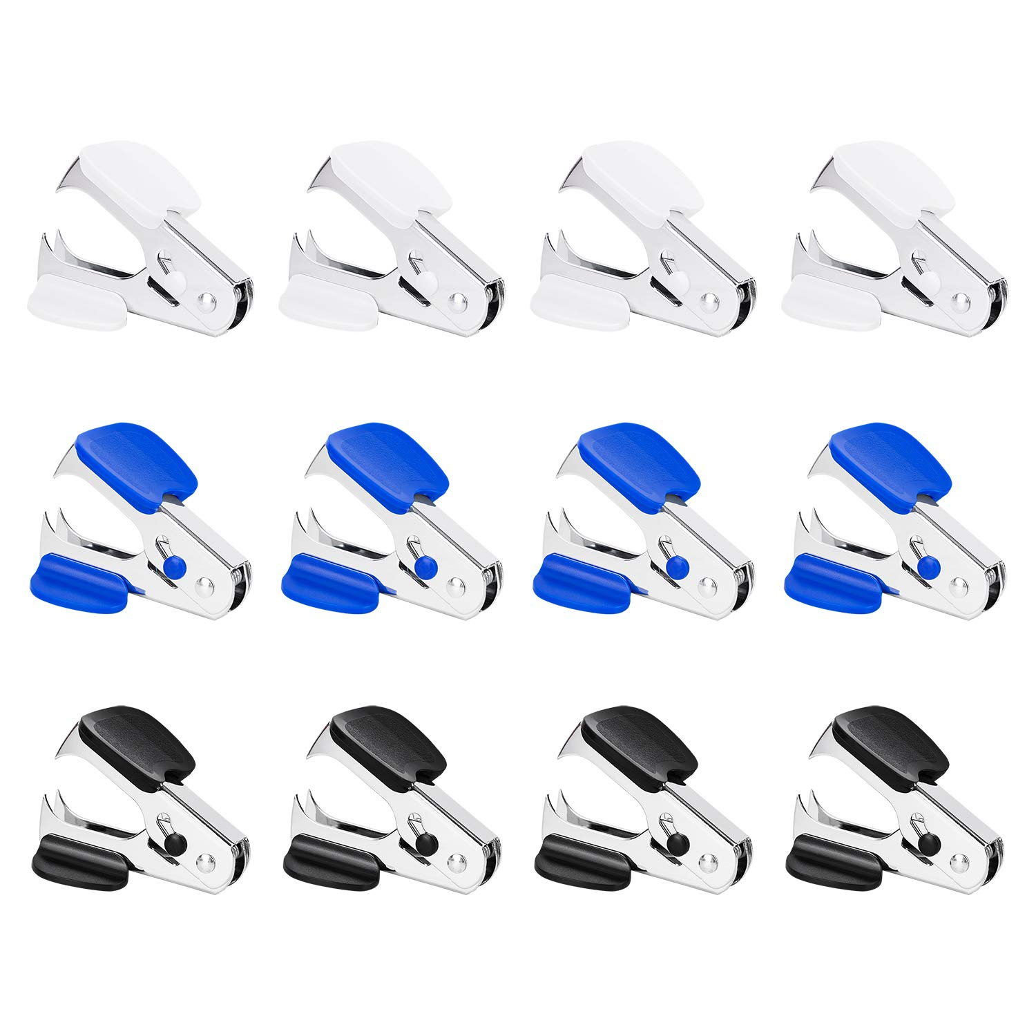 Deli 12 Pack Staple Remover Staple Puller Removal Tool for School Office Home, Multicolored Jaw Style Staples Remover, Assorted Colors
