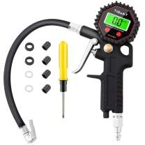 TiGaAT Digital Tire Inflator with Pressure Gauge, 200 PSI Heavy Duty Tire Gauge with Air Chuck and Compressor Accessories
