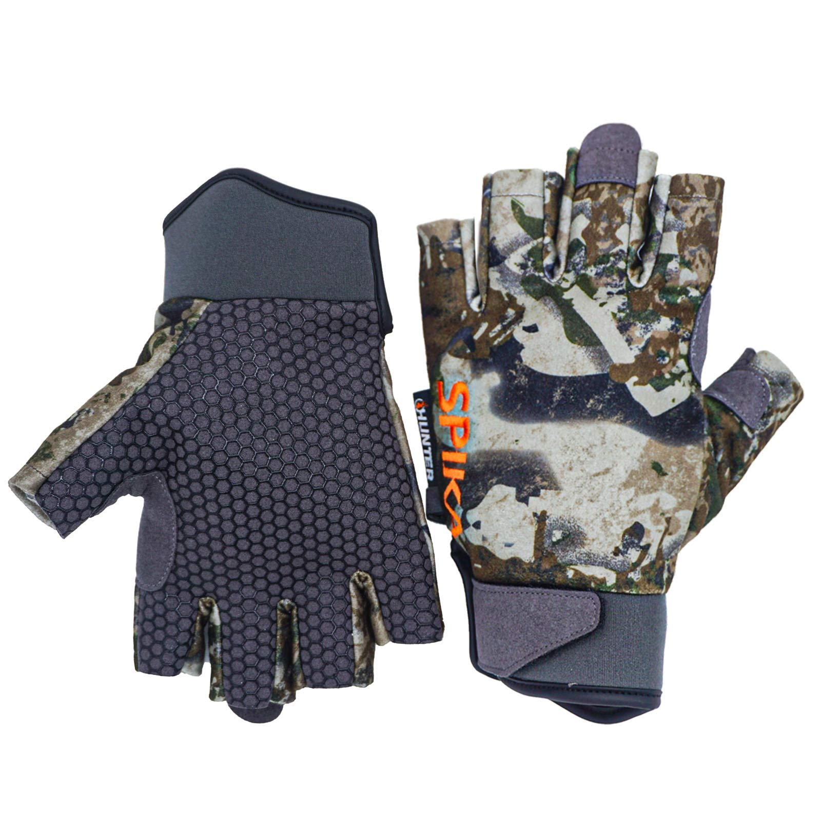 SPIKA Camouflage Fingerless and Full Finger Gloves Touchscreen Non-Slip Outdoor Sports Working Camping Hiking Cycling Climbing Hunting Gloves