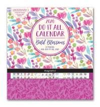 Orange Circle Studio 2020 Do It All Magnetic Wall Calendar, Bold Blossoms