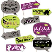 Big Dot of Happiness Funny Happy Halloween - Witch Party Photo Booth Props Kit - 10 Piece