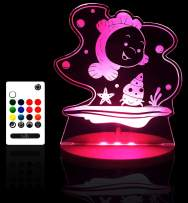 Tulio Dream Lights Under Sea Friends Multi-Use, Multi-Color Night Light