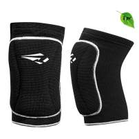 Volleyball Knee Pads with High Protective Low-Profile Soft Padding, Dance Riding Protection for Junior Youth Adult