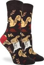 Good Luck Sock Women's Woodland Squirrel Socks - Brown, Adult Shoe Size 5-9