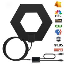 Efind 80 Miles Digital Indoor TV Antenna - High Reception HDTV Antenna Long Range Amplified TV Antenna Support 4K 1080P UHF VHF Freeview HDTV Channels with Signal Booster 10Ft Cable