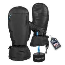 Wildhorn Tolcat Unisex Waterproof Leather Ski Mittens- Touchscreen Compatible