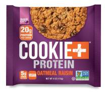 Bake City Cookie Plus Protein   Protein Cookies, 20g Protein, Non GMO, Vegan, Plant Based, Kosher, No Artificial Flavors (Oatmeal Raisin, 12 Cookies)