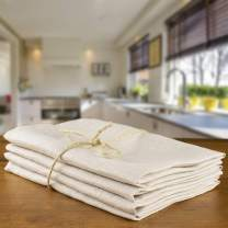 jasius Linen Dinner Napkins - Cloth Napkins Soft and Comfortable Reusable Napkins - Durable%100 Linen Napkins - 4 Pack - Pure French Flax - Table Napkins for Family Dinners, Weddings (Vintage Linen)