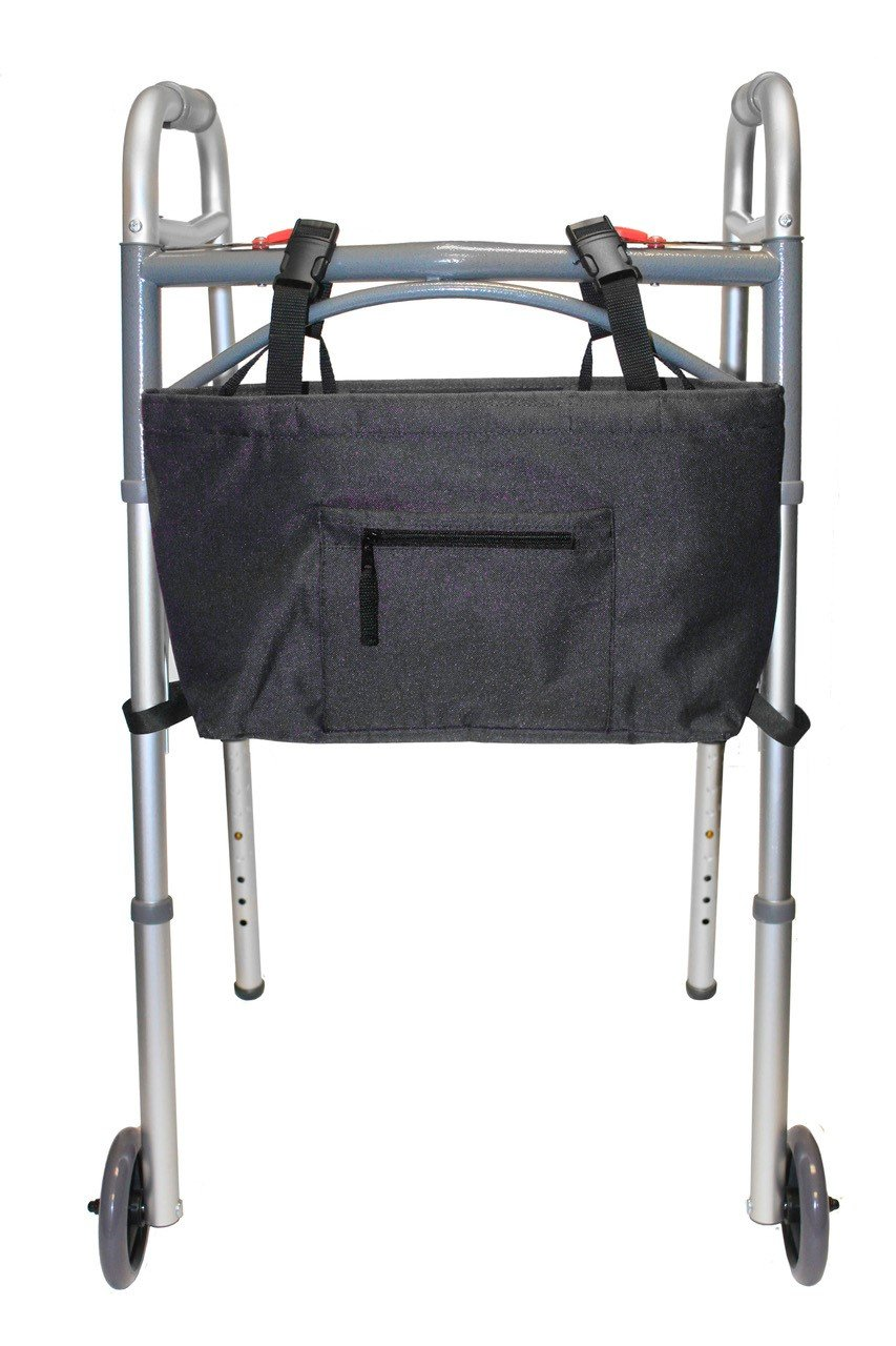 RMS Water Resistant Tote Bag for Walker, Rollator or Scooter (Black)