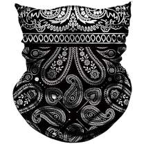 AXBXCX Paisley Pattern Neck Gaiters Fishing Face Mask