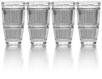Mikasa Carroll Gate Highball Glass, 11-Ounce, Set of 4