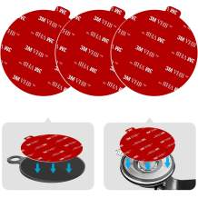 """Dashboard Pad Mounting Disk Sticky Adhesive Replacement Kit, PKYAA 3pcs 3.54""""(90mm) Circle Heat Resistant Double-Sided Stickers for Suction Cup Car Phone Holder Disc & Windshield Dash Cam"""