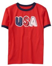Gymboree Boys' Short Sleeve Round Neck Graphic Tee