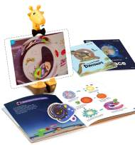 ARPEDIA Starter Kit – Interactive STEM Encyclopedia with App for Children Ages 4-9 - Includes 2 Books with Dinosaur and Space Topics, and 1 Augmented Reality (AR) Tablet Base with Book Camera