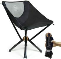Cliq Camping Chair - Most Funded Portable Chair in Crowdfunding History.   Bottle Sized Compact Outdoor Chair   Sets up in 5 Seconds   Supports 300lbs   Aircraft Grade Aluminum