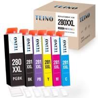 TEINO Compatible Ink Cartridge Replacement for Canon PGI-280XXL CLI-281XXL PGI 280 XXL CLI 281 XXL for PIXMA TR7520 TR8520 TS9120 TS8220 TS8120 (PGBK, Black, Photo Blue, Cyan, Magenta, Yellow 6-Pack)