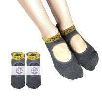 Yoga Socks with Grips for Women Non Slip Socks for Pilates, Ballet, Dance
