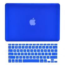 "TOP CASE - 2 in 1 Signature Bundle Rubberized Hard Case and Keyboard Cover Compatible Old Generation MacBook Pro 13"" with DVD Drive/CD-ROM Model: A1278 - Royal Blue"
