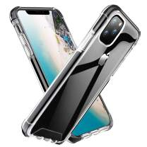 ROYBENS iPhone 11 Pro Case Clear, Shockproof Bumper Protective Case, Military Grade Non-Scratch Hybrid Cover Heavy-Duty Silicone PC Hard Shell Armor for 5.8 Inch iPhone 11 Pro 2019, Black+Clear