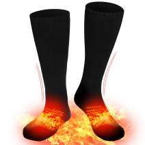 SVPRO Heated Socks Electric Rechargeable Battery Powered Socks Warm Winter Thermal Heating Socks Camping Hiking Riding Hunting Ice Fishing Foot Warmer