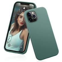 """DTTO Compatible with iPhone 12/12 Pro Case,Shockproof Silicone [Romance Series] Cover [Enhanced Camera and Screen Protection] with Honeycomb Grid Cushion for iPhone 12 6.1"""" 2020,Midnight Green"""