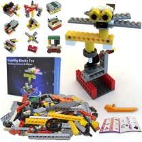 38 in 1 Building Blocks Toy Set for Kids, 221pcs Bricks Make 38 Mechanical Models, Smart Educational Construction Builder Toy Gift for Toddlers Age 5+