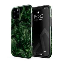 BURGA Phone Case Compatible with iPhone 11 PRO - Tropical Exotic Summer Green Palm Tree Leaf Nature Plant Leaves Heavy Duty Shockproof Dual Layer Hard Shell + Silicone Protective Cover