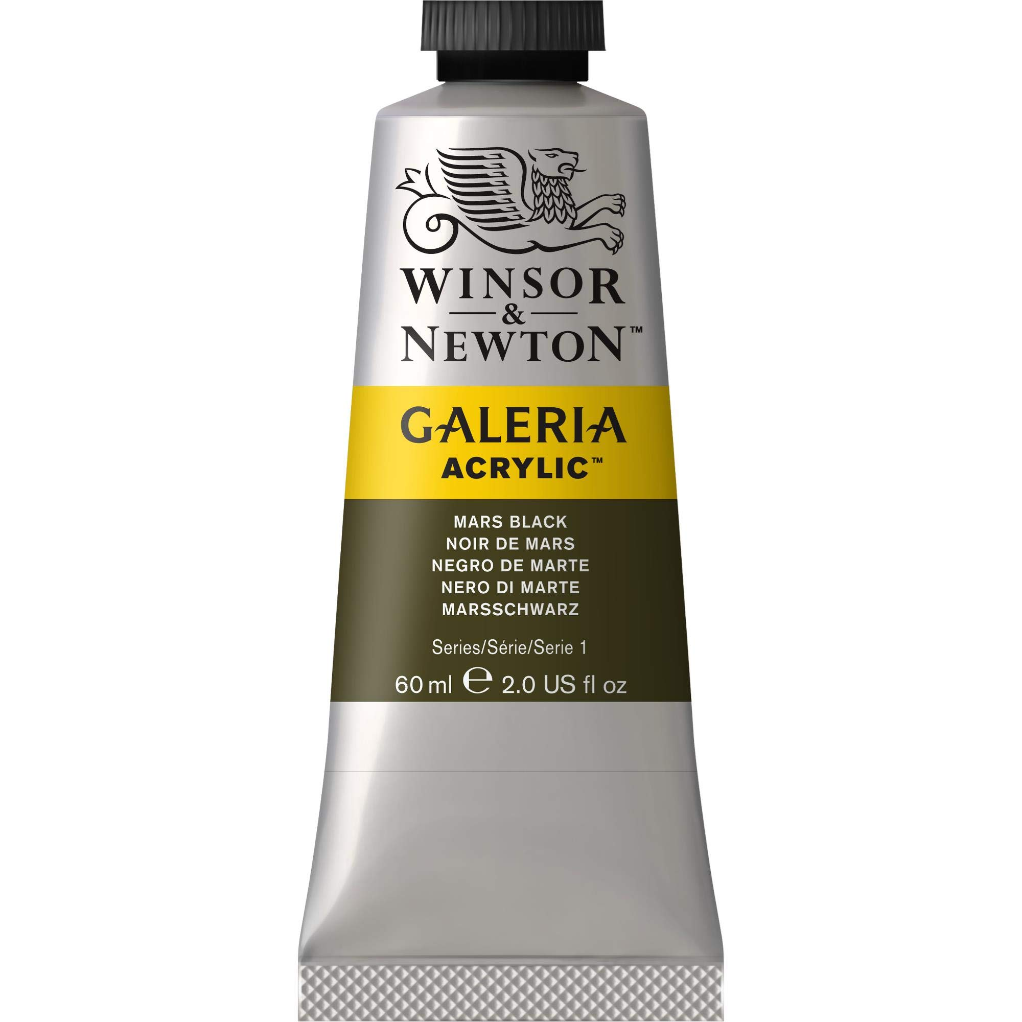 Winsor & Newton Galeria Acrylic Paint, 60ml Tube, Mars Black